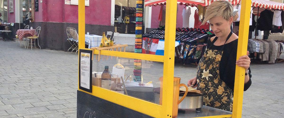 Crêpe-Stand, Kutschkermarkt