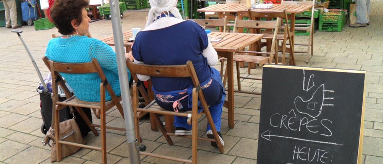 Kutschkermarkt: Frische Crêpes