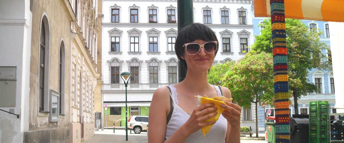 Crêpe-Stand mit Agnes Kammerer, Kutschkermarkt