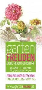 Gartenfreuden 2016 Gutschein Mail